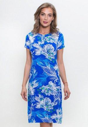 Платье домашнее Catherine's. Цвет: синий