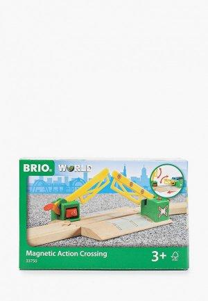 Конструктор Brio Ж/д переезд, на магнитах. Цвет: разноцветный