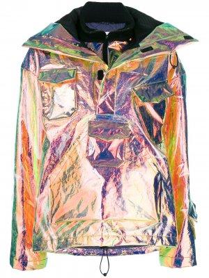 Переливающаяся куртка-бомбер Maison Margiela. Цвет: золотистый