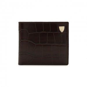 Кожаное портмоне Aspinal of London. Цвет: коричневый
