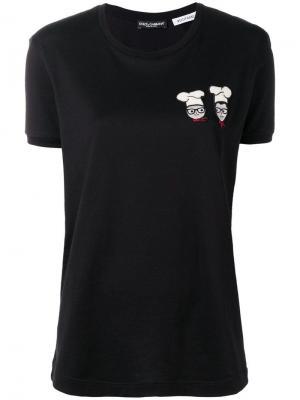 Футболка Chef Dolce & Gabbana. Цвет: черный