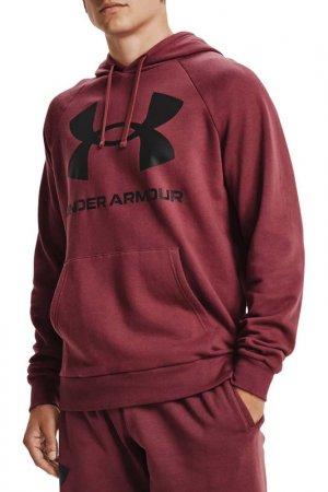 Худи Ua Rival Fleece Big Logo Under Armour. Цвет: красный