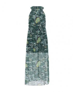 Платье миди ANNA SUI. Цвет: темно-зеленый