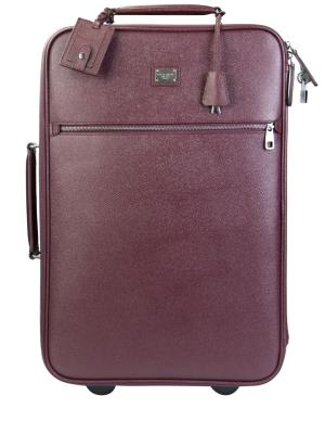 Кожаный чемодан на колесиках DOLCE & GABBANA