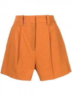 Шорты строгого кроя с завышенной талией A.L.C.. Цвет: оранжевый