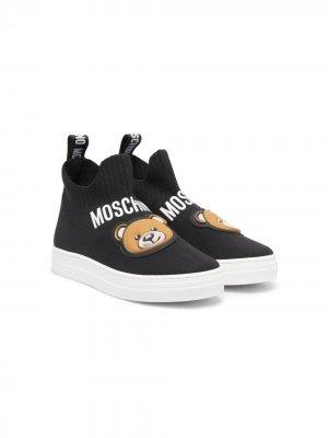 Кроссовки Teddy Bear Moschino Kids. Цвет: черный