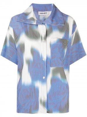 Рубашка в клетку гингем Kenzo. Цвет: синий