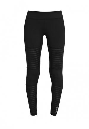 Тайтсы Reebok D MESH TIGHT. Цвет: черный