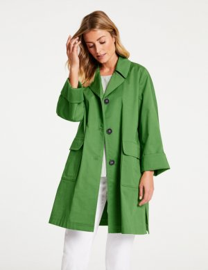 Легкое пальто -тренч из хлопка GERRY WEBER. Цвет: palm