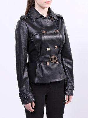 Кожаная куртка Liu Jo. Цвет: chernyy