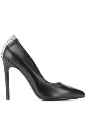 Туфли-лодочки с кристаллами Albano. Цвет: черный