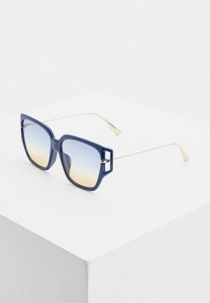 Очки солнцезащитные Christian Dior DIORDIRECTION3F PJP. Цвет: синий