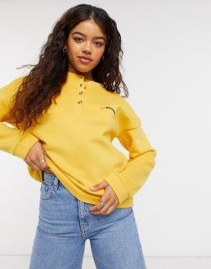 Желтый свитер на пуговицах BlendShe Blend She