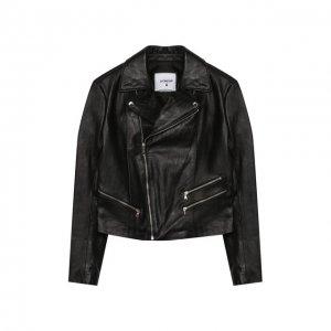 Кожаная куртка Dondup. Цвет: чёрный