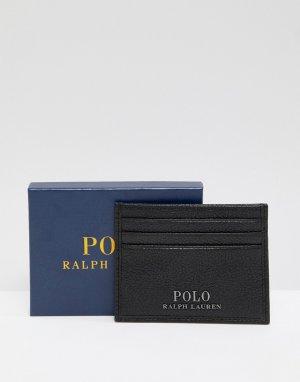 Черная кожаная визитница -Черный Polo Ralph Lauren