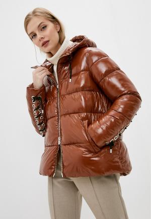 Куртка утепленная Pinko. Цвет: коричневый
