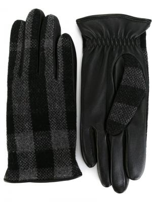 Перчатки в клетку House check Burberry. Цвет: серый