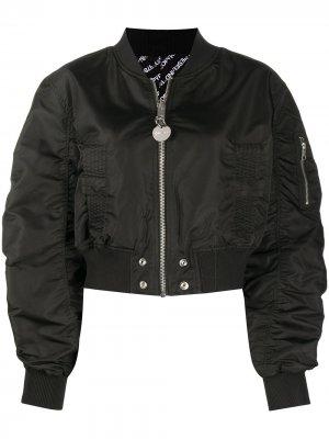 Двусторонняя укороченная куртка-бомбер Diesel. Цвет: черный
