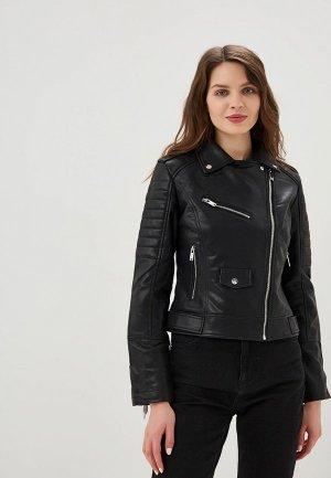 Куртка кожаная Befree. Цвет: черный