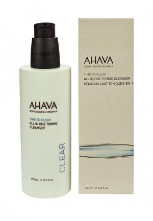 Средство для снятия макияжа Ahava Time To Clear Тонизирующее очищающее «все в одном» 250 мл