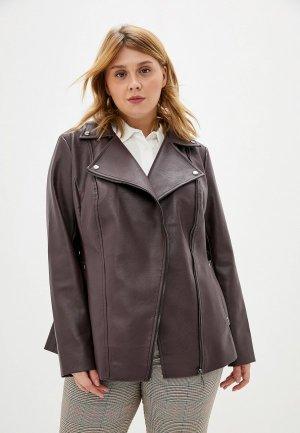 Куртка кожаная Авантюра Plus Size Fashion. Цвет: бордовый