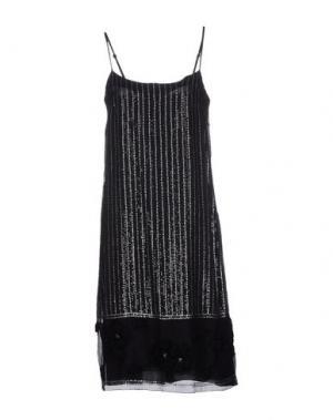 Платье до колена CARAMELO. Цвет: черный
