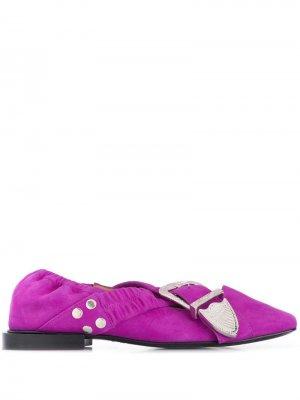 Балетки с пряжками Toga Pulla. Цвет: розовый