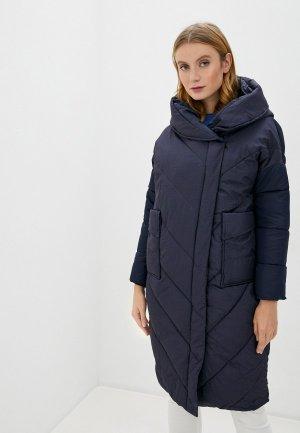 Куртка утепленная Marcella. Цвет: синий