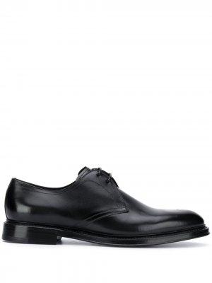 Оксфорды на шнуровке Dolce & Gabbana. Цвет: черный