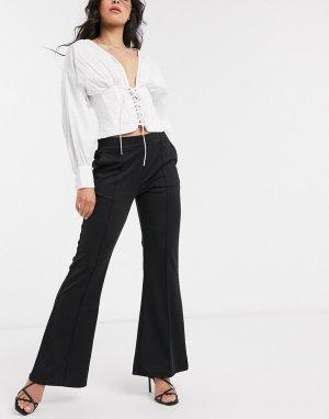 Расклешенные брюки -Черный Ichi
