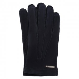 Замшевые перчатки Corneliani. Цвет: синий