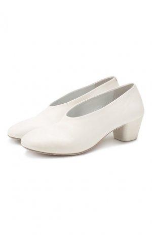Кожаные туфли Marsell. Цвет: белый