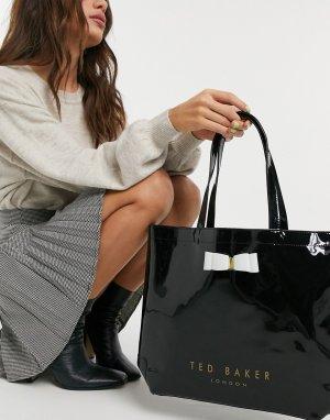 Черная большая сумка с бантом hanacon-Черный цвет Ted Baker