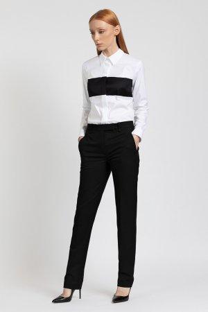 Зауженные брюки средней посадки VASSA&Co. Цвет: черный