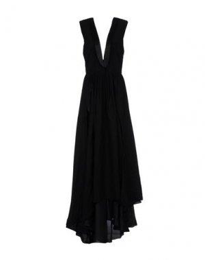 Длинное платье BAND OF OUTSIDERS. Цвет: черный