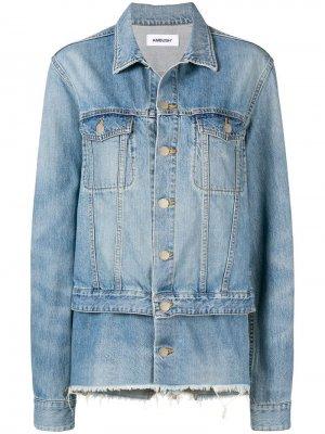 Джинсовая куртка свободного кроя AMBUSH. Цвет: синий