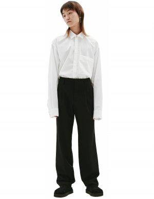 Черные брюки из шерсти Comme des Garcons Homme plus
