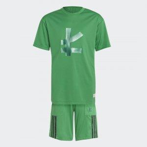 Комплект: футболка и шорты LEGO® Ninjago Lloyd Performance adidas. Цвет: черный