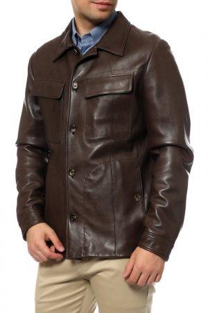 Куртка кожаная Saint Laurent Paris. Цвет: 2521