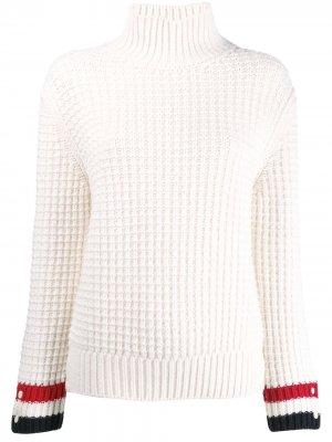 Фактурный пуловер с высоким воротником Thom Browne