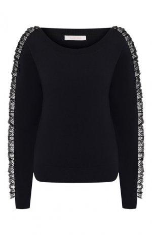 Хлопковый пуловер See by Chloé. Цвет: синий