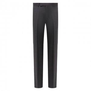 Шерстяные брюки Ermenegildo Zegna. Цвет: серый