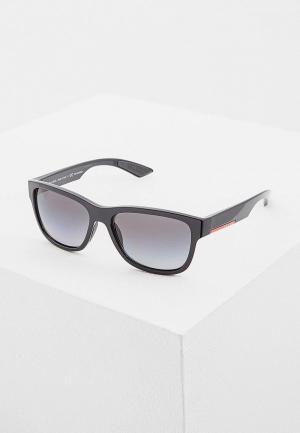 Очки солнцезащитные Prada Linea Rossa PS 03QS 1AB5W1. Цвет: черный