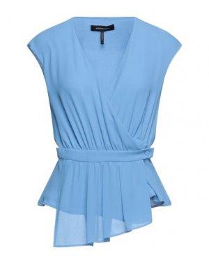 Pубашка BCBGMAXAZRIA. Цвет: небесно-голубой