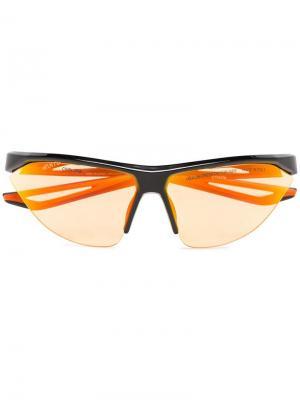 Солнцезащитные очки Tailwind из коллаборации с Nike Heron Preston. Цвет: черный