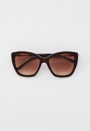 Очки солнцезащитные Jimmy Choo ROSE/S 086. Цвет: коричневый