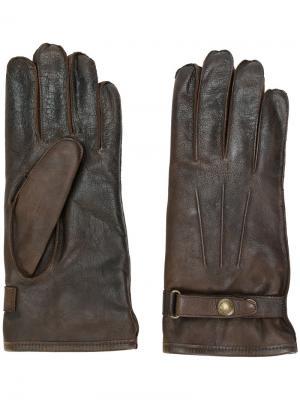 Перчатки с пряжками Belstaff. Цвет: коричневый