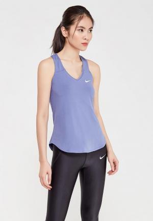 Майка спортивная Nike Womens NikeCourt Pure Tennis Tank. Цвет: синий