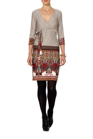 Платье Apart. Цвет: светло-серый, черный