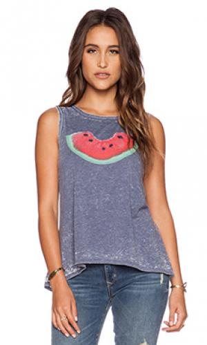 Майка-борцовка watermelon bite Chaser. Цвет: синий